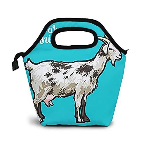 Bolsa Térmica Comida Bolsas De Almuerzo para Mujeres Hombres Niñas Niños Bolsa Isotérmica De Almuerzo Cuernos de cabra de animales de granja