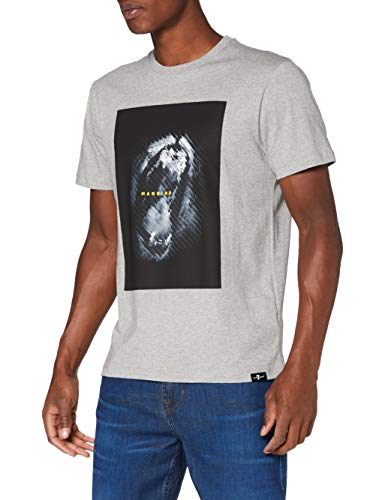 7 For All Mankind Graphic tee Camiseta, Gris, L para Hombre