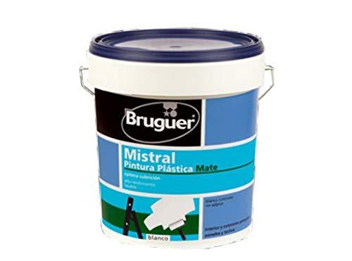Bruguer 5056360 Pintura PLÁSTICA EXT-INT Mistral 4 L, Negro