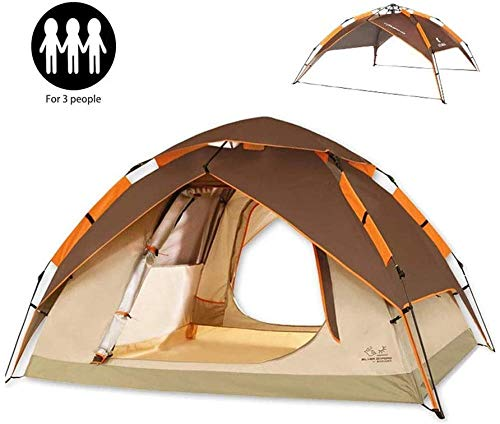 YAYY 2-4 Persoon Waterdicht Automatische Camping Tent 4 Seizoen Backpacking Tent Draagbare Dome Quick Up Tent voor Outdoor Familie Camping Reizen (Upgrade)