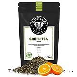 Edward Fields Tea ® - Té verde orgánico a granel con Naranja. Té bio recolectado a mano con ingredientes y aromas naturales, 100 gramos, China.