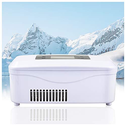 REAQER Tragbare Insulin-Kühlbox 2-8 ° C gekühlte Box Kühltasche Reefer Car Kühlschrank Größe 21 * 10 * 9cm für Auto, Reisen, Flugzeug