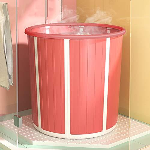 zhangmeiren Barriles Plegables, Adultos, Niños Barriles De Baño Plegables, Materiales Engrosados, Fácil Plegado, Termostato De Sonido Envolvente, Almacenamiento Portátil (Color : Red, Size : A)