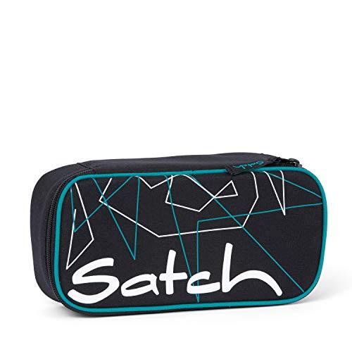 Satch Schlamperbox Freeze, Mäppchen mit extra viel Platz, Trennfach, Geodreieck, Schwarz