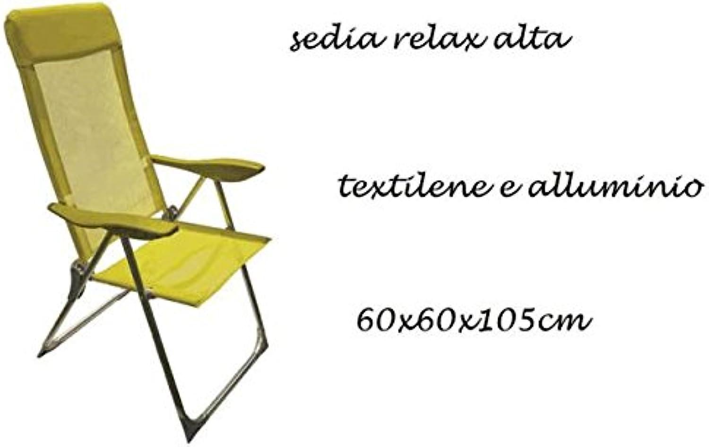exclusivo C&C C&C C&C Silla relax Spiaggina de aluminio Color amarillo Jugara Pic Nic Idea regalo stc0685  muy popular
