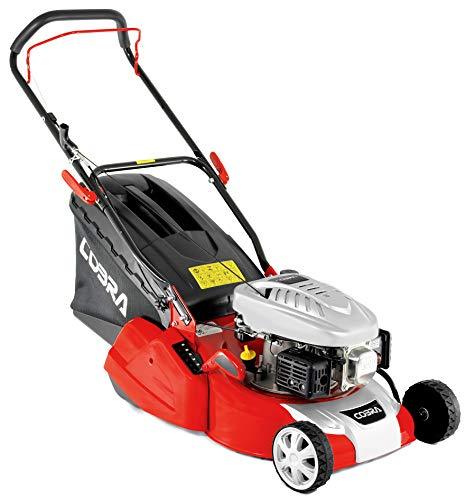 Cobra RM40C 40cm (16in) Petrol Lawnmower with Roller for striped lawn, powered by a DG350 OHV engine