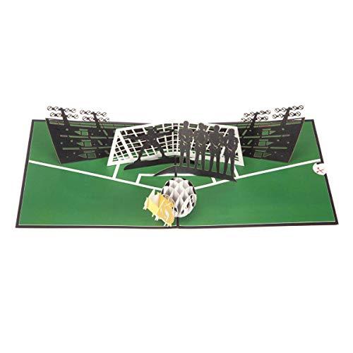Vrouwelijke Voetbal 3D Verjaardagskaart - Voetbal Geschenken voor Vrouwen en Meisjes | 15 x 15cm | Handgemaakte Kaarten door Cardology
