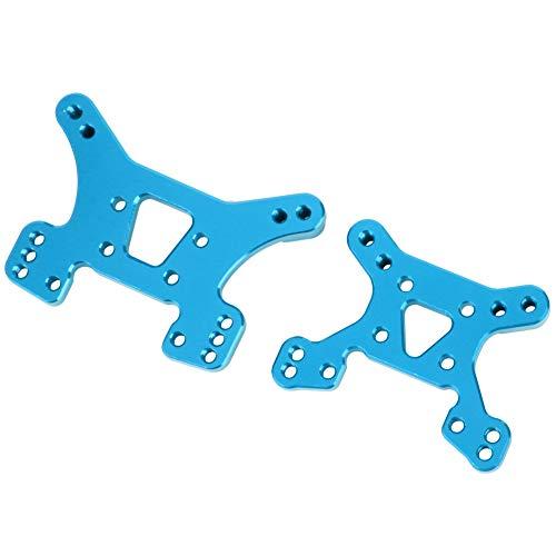 Dilwe Ersatzteile für hintere/vordere Aluminium-Stoßdämpfer aus Aluminium Ersatzteile für WLtoys 144001 1/14 RC-Modellauto(Blau)