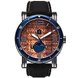 'The Waterman' Hawaiian Koa Wood Watch (47mm, Gunmetal & Silicone)