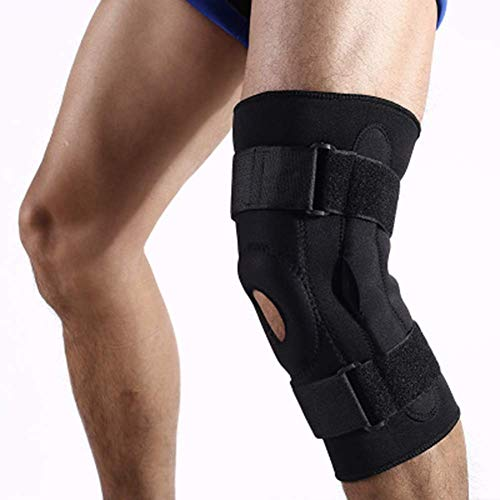 GYW-YW 1 pcs Adjustable Knee Brace Support, Knee Pads Brace Protector Spring Stabilizer for Football Weightlifting Meniscus Tear Injury Recovery Ligament Arthritis