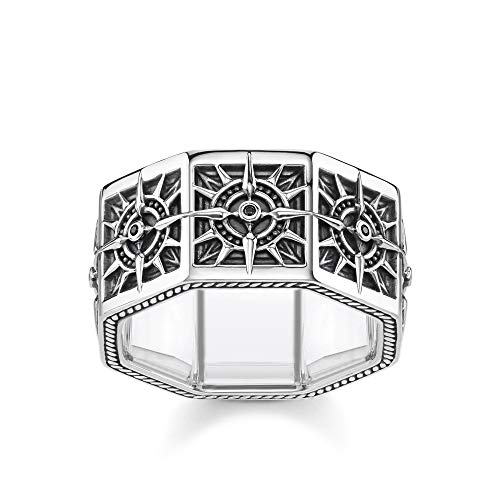 Thomas Sabo Unisex-Ring Kompass eckig 925 Sterlingsilber TR2275-643-11-64