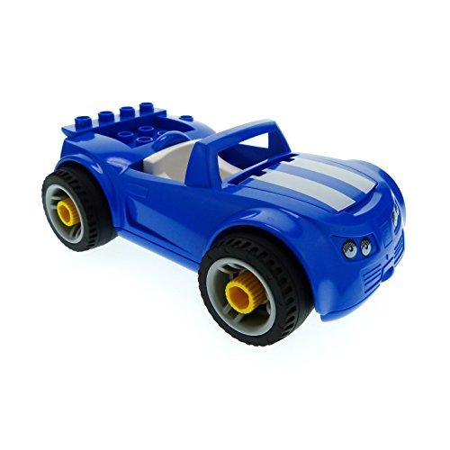 1 x Lego Duplo Toolo Auto blau weiss Cabrio Räder zum Abschrauben Fahrzeug für Set Werkstatt 5640 85353c02pb01