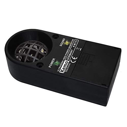 Kemo M175 Tiervertreiber Ultraschall Leistungsstark. Erzeugt sehr laute, sirenenartig pulsierende, aggressive Ultraschalltöne. Vertreibt Nagetiere, Insekten, Wild + Vögel. Mit LED-Anzeigen