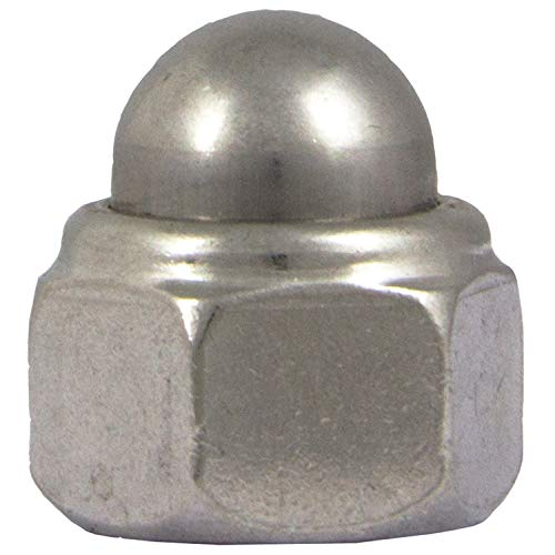 Hutmuttern selbstsichernd mit Klemmteil M12 Stopmuttern (5 Stück) aus Edelstahl A2 (V2A) DIN 986 rostfrei Muttern Sechskant-Hutmuttern Mutter Kappenmuttern   AG-BOX®