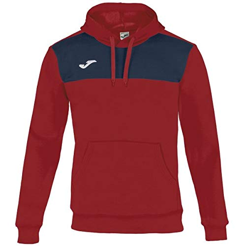 Joma Winner Cotton Sweatshirt à Capuche Homme, Rouge/Marine, S