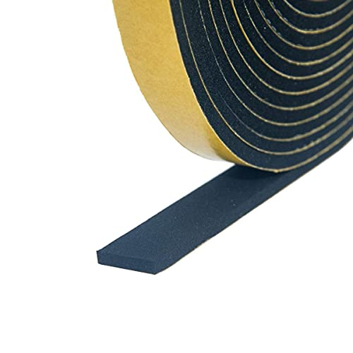 スポンジテープ クッションテープ 戸当たりテープ 薄い 隙間すきまテープ フォームテープ EVAとCR 発泡ゴム 衝突防止 防振防風防音 ドア 窓 黒 厚さ1mm*幅20mm*長さ10m(EVA)