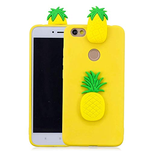 Phone Cover for Xiaomi Redmi Note 5A, LAXIN Soft Silicone Bumper Back Case with Fruit Pineapple Pattern Anti-Shock Anti-Slip Hybrid Soft Slim TPU Shockproof Smart Shell for Xiaomi Redmi Y1