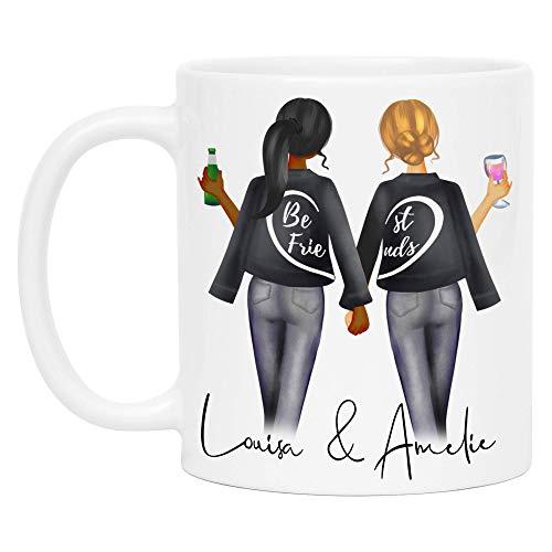Kiddle-Design Beste Freundinnen Tasse Personalisiert Beste Freundin Name Geschenk Freundinnengeschenk Kaffeetasse