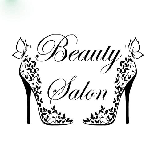 Calcomanía De Pared De Zapatos Butterful De Salón De Belleza A La...