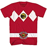 Power Rangers Red Costume T-Shirt(Red,Small)