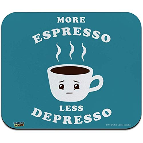 utong Mehr Espresso Weniger Depresso Depression Kaffee Lustiger Humor Low Profile Dünne Mauspad Mousepad