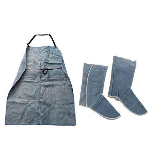 Profi Schweißwerkzeug Set inkl. Schweißer Schutzschürze + Schutzschuhe, aus Leder