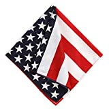 American Flag Bandana Handkerchief - Large/Jumbo USA Cowboy Bandanas for Men & Women - Head & Face Wrap Scarf