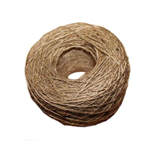 OMMO LEBEINDR Suministros de Textura de la arpillera de Yute Natural Cadena Gruesa Cadena de Yute Guita Arte de DIY para los Regalos Floristry Decoración 100 Metros