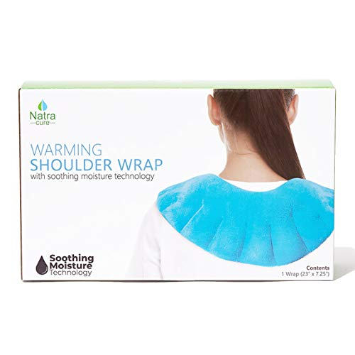 NatraCure Microwaveable Moist Heat Wrap with Silica Beads (Hot Therapy Pack and Heating Pain Relief Pad for Neck, Shoulders, Body)