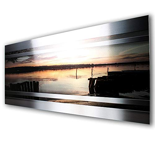 Sonnenuntergang Sunset Designer Fliesenspiegel Spritzschutz Küchenrückwand Küche Kochen Herd aus Alu Verbund * verschiedene Größen (80x40cm)