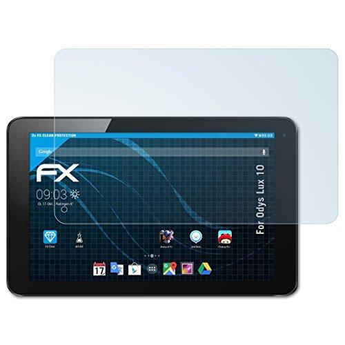 atFolix Schutzfolie kompatibel mit Odys Lux 10 Folie, ultraklare FX Bildschirmschutzfolie (2X)