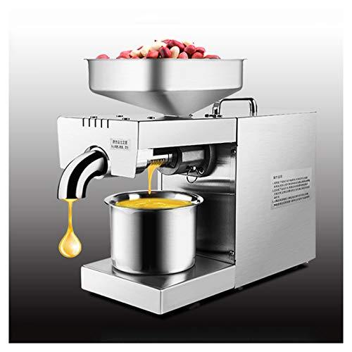 KELUNIS Máquina De Prensa De Aceite 220V, Acero Inoxidable Completamente Automático Extractor De Prensa De Aceite Frío Y Caliente con Control De Temperatura para Semillas De Sésamo De Nuez De Coco