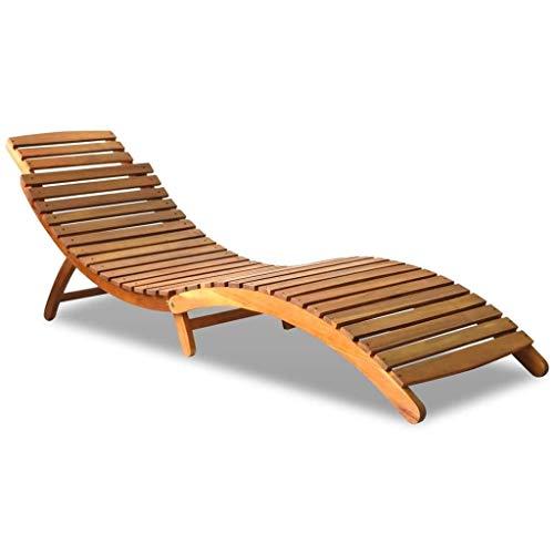 N/A Chaise Longue in Legno massello di Acacia (190 * 60 * 51cm)