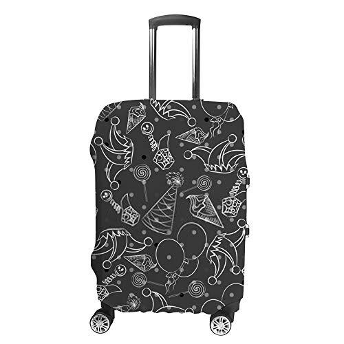 Chehong Reise-Koffer-Abdeckung, April-Figur-Tag, Schablone, Ornament Grußkarte, geeignet grau, waschbar, staubdicht, Gepäckabdeckung, wasserabweisend, Polyester, passend für 45,7-81,3 cm