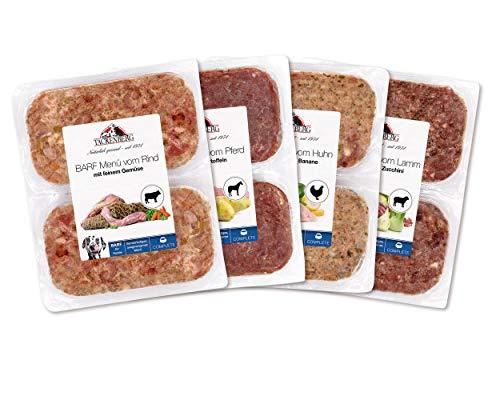 Tackenberg Barf Menü Mix-Paket für Hunde. 5Kg Barf Fleisch mit Gemüse für Hunde