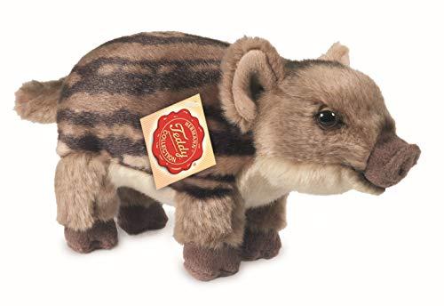 Teddy Hermann 90832 Wildschweinfrischling 22 cm, Kuscheltier, Plüschtier