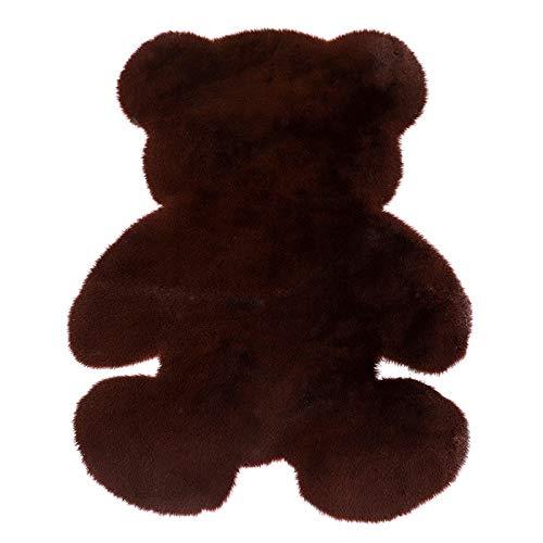 Cartoon Bear Carpet Fluffy Hairy rabbit fur Carpet Variationren Kids Room Plush Artificial Wool Mat Chair Cushion