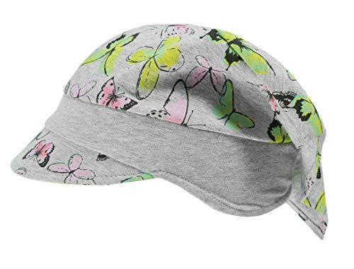 Döll Mädchen Kopftuch mit Schirm Schmetterlinge, Größe:49, Präzise Farbe:Grau