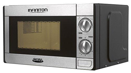 MICRONDAS INFINITON MW-1115 CON GRILL (20L, INOX, Potencia 700W, GRILL 1000W, Capacidad 20L, Plato 25,5 cm, Descongelador)