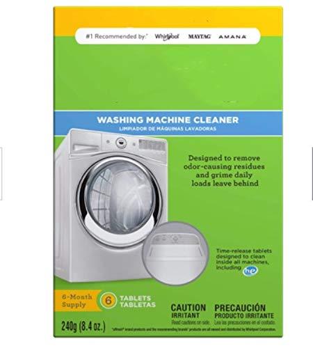 Waschmaschinenreiniger 6 Tabletten, weiß, neue Verpackung Waschmaschine umweltfreundlicher Sanitärreiniger