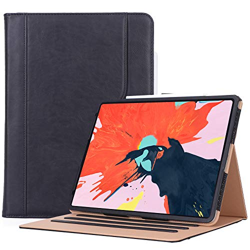 ProCase iPad Pro 12.9 Case 3rd Generation, Stand Folio Cover Protective Case for Apple iPad Pro 12.9 Inch 2018 Model A1876 A2014 A1895 A1983 –Black