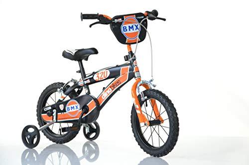 Jongens kinderfiets rood 145XC jongensfiets - 14 inch | TÜV getest | kinderfiets met steunwielen - de fiets als cadeau voor jongens