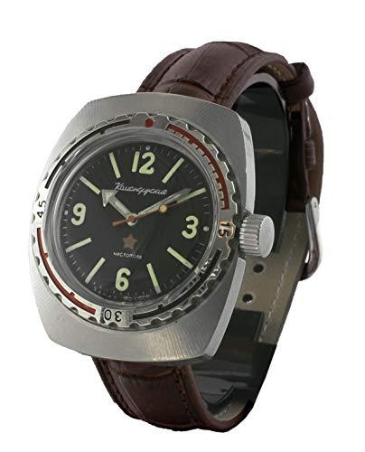 Komandirskie Armbanduhr aus der Sowjeteriode, nummerierte Serie (547883), mit Handaufzug, Original