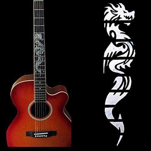 YSHTAN Gitaar Sticker Orkestrale Instrument Sticker Fretboard Accessoire Elektrische Gitaar Chinese Draak Stickers Decor voor Beginner