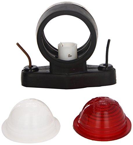 HELLA 2XS 955 031-001 Umrissleuchte - R5W - Lichtscheibenfarbe: milchweiß/rot/weiß - Anbau - Einbauort: seitlicher Anbau