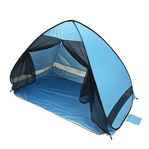 SUAUYING Anti-Mosquitos Sombra Tienda de la Playa con protección UV Gasa automática Camping al Aire Libre portátil de Pantalla Beach con Net (Color : A)