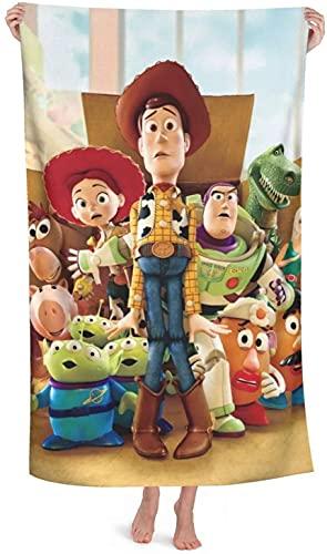 YOMOCO Toallas de playa de Toy Story con personajes animados de la película Woody, toallas de baño para niños y niñas (juguete, 2,80 cm x 130 cm)