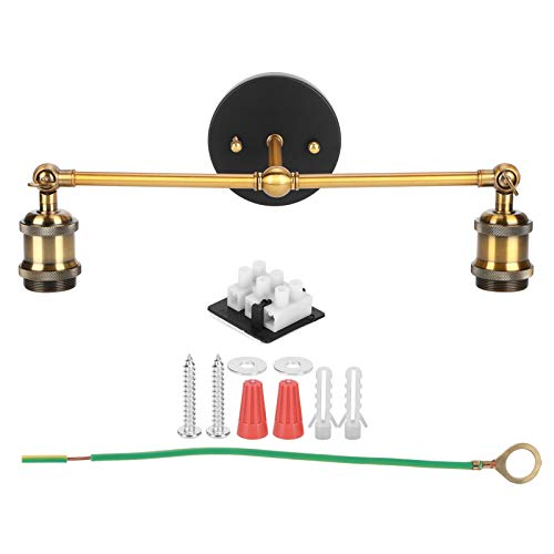 GAESHOW Lámpara de Pared E27 Simple Industrial Retro Doble Cabeza luz de Pared lámpara de Pared Decorativa de Hierro Forjado AC85-265V