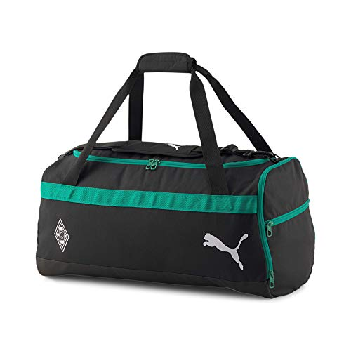 PUMA Borussia Mönchengladbach teamGoal 23 Team Bag Sports Bag, Black/Green, standard size