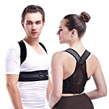 Invisible Posture Corrector for Men, Women and Kids, Mercase Ultra-Lightweight Back Brace for Spinal Lumbar...
